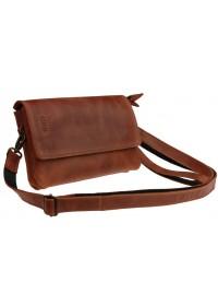Кожаная женская светло-коричневая сумка - клатч 72232W-SKE