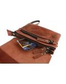 Фотография Кожаная женская светло-коричневая сумка - клатч 72232W-SKE