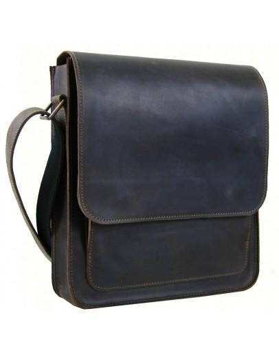 Фотография Коричневая вместительная мужская сумка на плечо 72239-SGE
