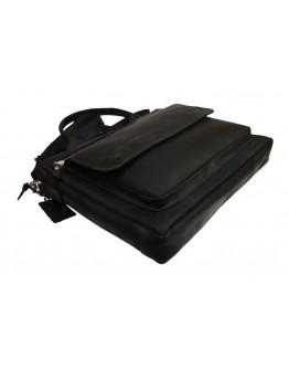 Черная кожаная мужская деловая сумка формата А4 72248-SKE