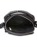 Фотография Кожаная сумка чёрного цвета в руку и на плечо 7224
