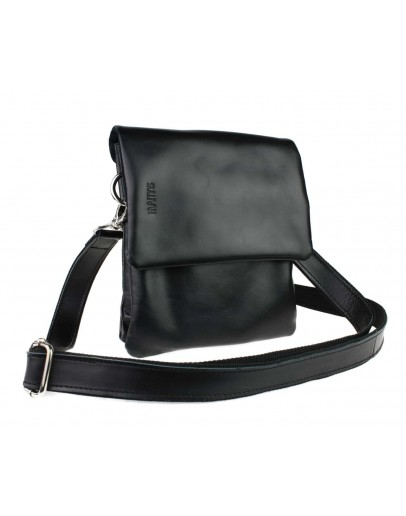 Фотография Вертикальная небольшая кожаная сумка на плечо 722500-SKE