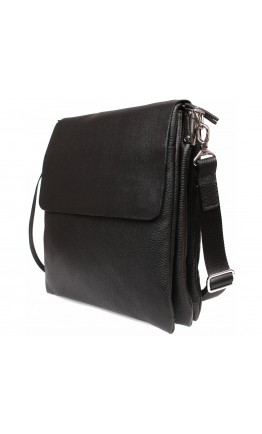 Вместительная классическая мужская кожаная сумка на плечо 7230