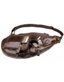 Фотография Длинный мессенджер на плечо шоколадного оттенка кожи 77236c