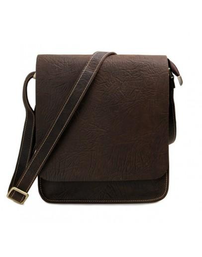 Фотография Кожаная классическая коричневая сумка на плечо 77239