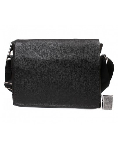 Фотография Черная кожаная сумка формата А4 7239kt
