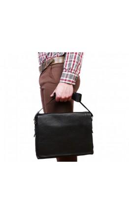 Черная кожаная сумка формата А4 7239kt