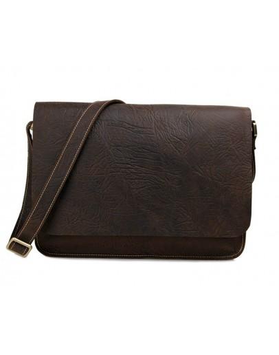 Фотография Большая классическая сумка на плечо коричневая 77240
