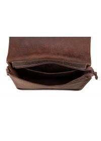 Большая классическая сумка на плечо коричневая 77240