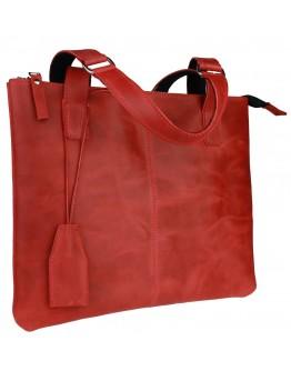 Женская красная кожаная деловая сумка 7240W-SKE