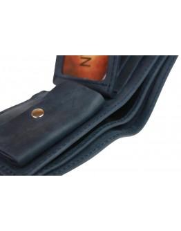 Синее мужское кожаное портмоне 72410-SKE