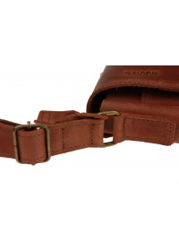 Коричневая небольшая кожаная женская сумка 72423W-SKE
