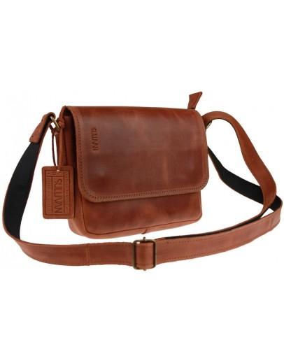 Фотография Коричневая небольшая кожаная женская сумка 72423W-SKE