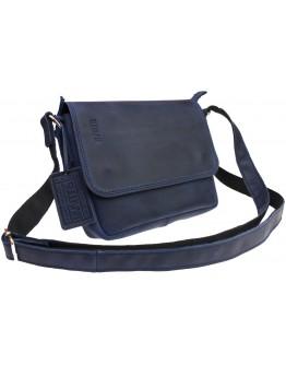 Синяя женская кожаная небольшая сумка 72523W-SKE