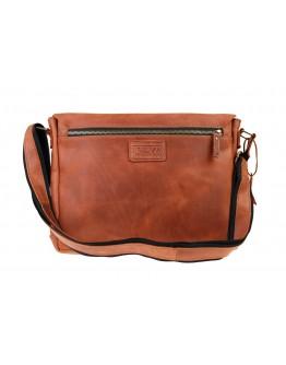 Мужская большая сумка на плечо светло-коричневая 72550-SKE