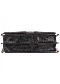 Портфель рифленый из натуральной кожи Manufatto 725 черный риф