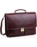 Фотография Элегантный мужской портфель Manufatto 725 коричневый