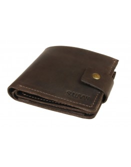 Мужской коричневый кожаный кошелек 72610-SKE