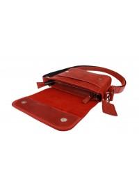 Красная женская кожаная сумка на плечо 72623W-SKE