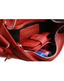 Фотография Красная женская кожаная сумка на плечо 72623W-SKE