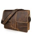 Фотография Мега стильная мужская сумка из превосходной кожи лошади 77263