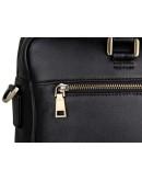 Фотография Универсальный кожаный черный мужской портфель 77270A