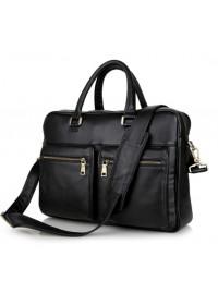 Универсальный кожаный черный мужской портфель 77270A