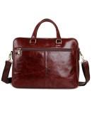 Фотография Кожаный мужской портфель модного коричневого цвета 77270c