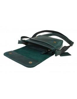 Зеленая женская небольшая кожаная сумка 72723W-SKE