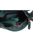 Фотография Зеленая женская небольшая кожаная сумка 72723W-SKE