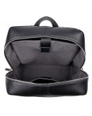 Фотография Кожаный черный качественный рюкзак 72753A