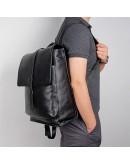 Фотография Оригинальный черный рюкзак кожаный 72754A