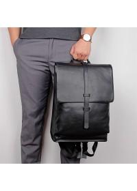 Оригинальный черный рюкзак кожаный 72754A