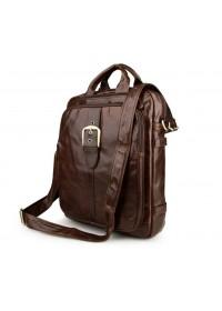 Стильный и компактный коричневый рюкзак - сумка 77279c