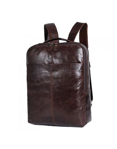 Фотография Коричневый городской кожаный мужской рюкзак 77280C