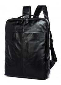 Кожаный черный рюкзак для мужчины 7280A