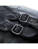 Фотография Кожаный черный рюкзак для мужчины 7280A