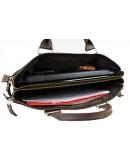 Фотография Вместительная коричневая сумка для документов и ноутбука 729607-SKE