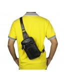 Фотография Маленький мужской серо-коричневый рюкзак 77296j