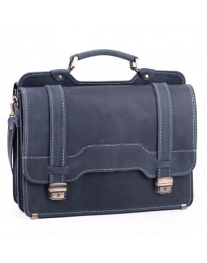Фотография Мужской классический портфель синий Manufatto 73-sps blue