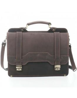 Вместительный коричневый кожаный портфель от Manufatto 73-sps