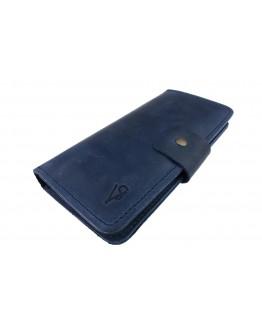 Большой мужской кошелек синий 73010P-SKE
