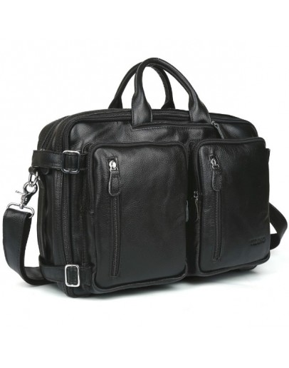 Фотография Мужская кожаная черная универсальная сумка 73013