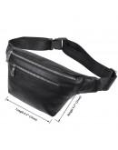 Фотография Мужская сумка на пояс кожаная черная 73015A