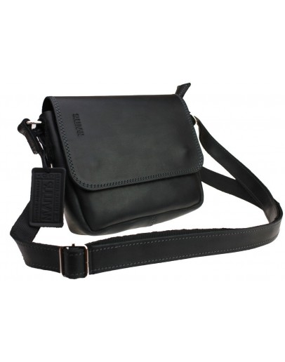 Фотография Маленькая женская черная кожаная сумка 73023W-SKE