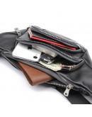 Фотография Черная мужская сумка на пояс и на плечо 73023A