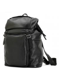 Чёрный кожаный повседневный рюкзак 73067t