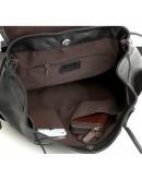 Фотография Чёрный кожаный повседневный рюкзак 73067t