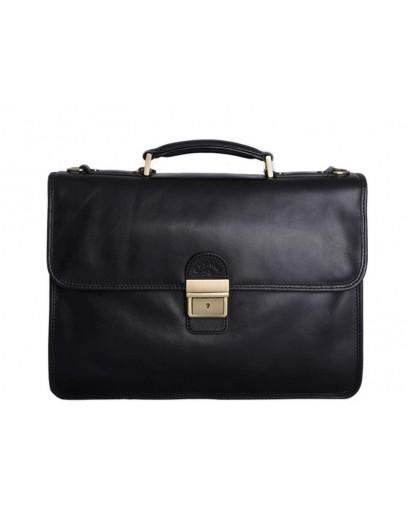 Фотография Мягкий чёрный мужской кожаный портфель Katana K731025-1