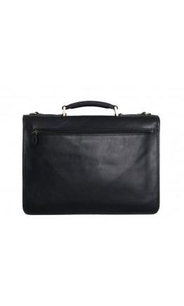 Мягкий чёрный мужской кожаный портфель Katana K731025-1